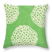 Sage Garden Bloom Throw Pillow by Linda Woods