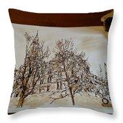 Sage Hall  Throw Pillow