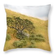 Sage Under Oak Throw Pillow