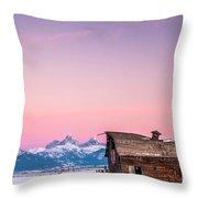 Saggy, Teton Valley, Barn Throw Pillow
