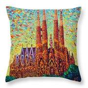 Sagrada Familia Barcelona Spain Throw Pillow