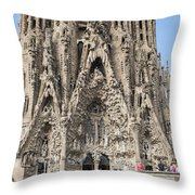 Sagrada Familia - Gaudi Designed - Barcelona Spain Throw Pillow