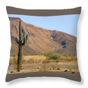 Saguaro Cactus Arizona Throw Pillow