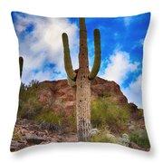 Saguaro Cactus Throw Pillow