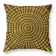 Saguaro Cactus Top Abstract #4 Throw Pillow