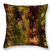 Saguaro Detail No. 21 Throw Pillow