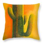 Saguaro In Summer Throw Pillow
