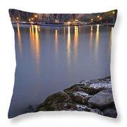 Saguaro Lake Dusk Throw Pillow