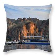 Saguaro Lake Goldfield Mountains Throw Pillow