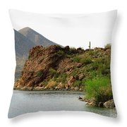 Saguaro Lake Shore Throw Pillow