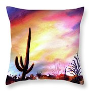 Saguaro National Monument Throw Pillow
