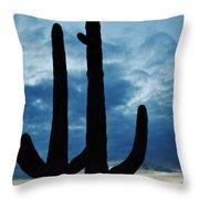 Saguaro Nights Throw Pillow