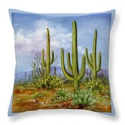 Saguaro Scene 1 Throw Pillow
