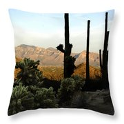 Saguaro Silhouette Throw Pillow