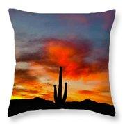Saguaro Sunrise Throw Pillow