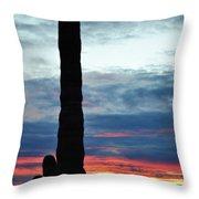 Saguaro Sunset Portrait Throw Pillow