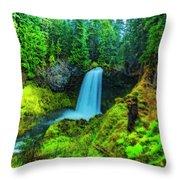 Koosa Falls, Oregon Throw Pillow