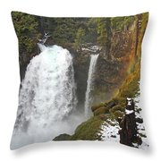 Sahalie Falls, Oregon Throw Pillow