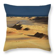 Sahara Desert Near Tozeur Tunisia Throw Pillow