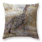 Saharan Rock Painting Throw Pillow