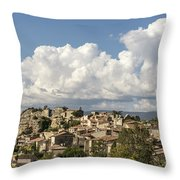 Saignon Village Provence  Throw Pillow by Juergen Held
