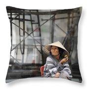 Saigon Lady Throw Pillow