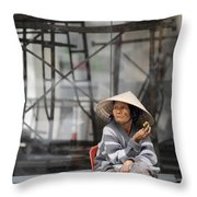 Saigon Lady Throw Pillow