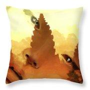 Siam Visage Throw Pillow