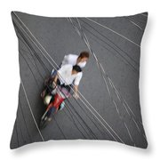 Saigon Wires Throw Pillow