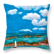 Sail Around The Islands Throw Pillow