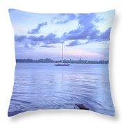 Sail Away Devils Island Throw Pillow