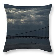 Sail Beneath The Mighty Mac Throw Pillow