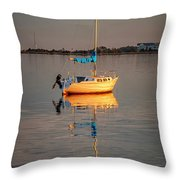 Sail Boat In Roanoke Sound 1x2 Ratio Img_3969 Throw Pillow