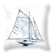 Sail Boat Throw Pillow