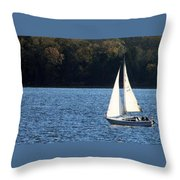 Sail Boat Throw Pillow