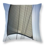 Sail In The Wind. Throw Pillow