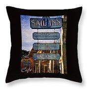 Sail Inn Throw Pillow