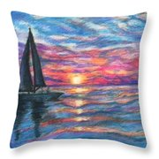 Sail On And Fly Like The Wind Throw Pillow by The Art With A Heart By Charlotte Phillips