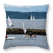 Sail On Throw Pillow