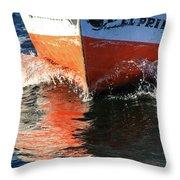Sail On The Nile Throw Pillow