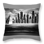 Sail With The City 16 Throw Pillow