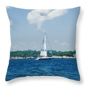 Sail1 Throw Pillow