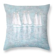 Sailaway By V.kelly Throw Pillow