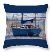 Sailboat And Dingy Throw Pillow