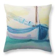 Sailboat At Rest 4 Throw Pillow