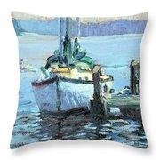 Sailboat At Rest Throw Pillow
