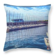 Sailboat Classes Throw Pillow