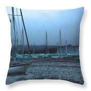 Sailboat Harbor Throw Pillow