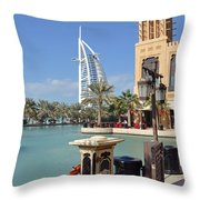 Sailboat Hotel IIi Throw Pillow by Corinne Rhode