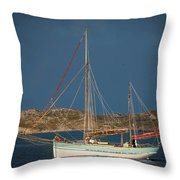 Sailboat In Iona Bay Throw Pillow